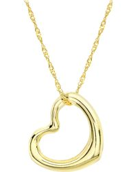 Ib&b - 9ct Yellow Gold Twist Curb Chain Heart Pendant Necklace - Lyst