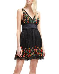 French Connection - Amity Lace Embroidered Dress - Lyst