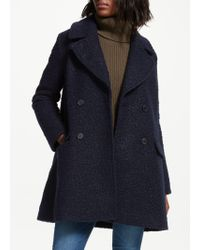 Great Plains - Boucle Sleeve Double Breasted Coat - Lyst