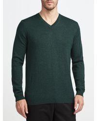 John Lewis - Made In Italy Merino Wool V-neck Jumper - Lyst