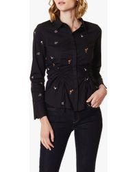 Karen Millen - Star Embroidered Shirt - Lyst