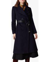 Karen Millen Wrap Over Belted Coat