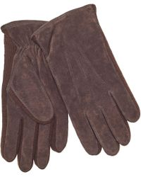 John Lewis - Suede Sandwich Top Stitch Gloves - Lyst