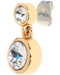 John Lewis - Karen Millen Swarovski Crystal Dot Drop Earrings - Lyst
