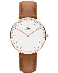 Daniel Wellington   Women's Classic Durham Leather Strap Watch   Lyst