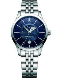 Victorinox   241752 Alliance Women's Moonphase Date Bracelet Strap Watch   Lyst
