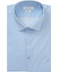 CALVIN KLEIN 205W39NYC - Bari Slim Fit Geometric Print Shirt - Lyst