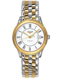 Longines - L47743217 Men's Flagship Automatic Date Two Tone Bracelet Strap Watch - Lyst
