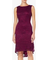 Adrianna Papell - Rosa Lace Trumpet Dress - Lyst