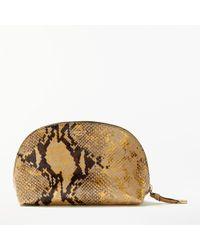 Modern Rarity - Carmenere Leather Cosmetic Bag - Lyst