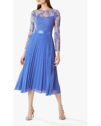 18cf4a75fa3e Coast Ela Soft Midi Bridesmaid Dress in Pink - Lyst