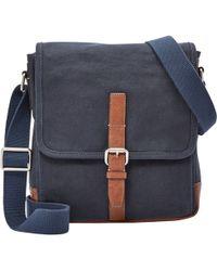 Fossil - Graham Canvas Laptop Messenger Bag - Lyst