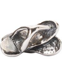 Trollbeads - Sterling Silver Flip Flops Bead Charm - Lyst