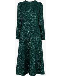 L.K.Bennett - Lazia A-line Sequin Dress - Lyst