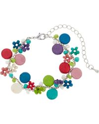 One Button - Mini Discs And Bead Bracelet - Lyst