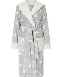 John Lewis - Star Embossed Fleece Dressing Gown - Lyst