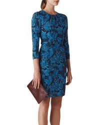 Whistles - Parker Print Silk Bodycon Dress - Lyst