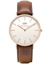 Daniel Wellington - 0510dw Women's Sheffield Leather Strap Watch - Lyst