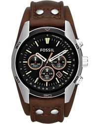 Fossil - Ch2891 Men's Coachman Chronograph Leather Strap Watch - Lyst