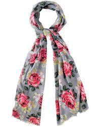 Cath Kidston - Richmond Rose Print Scarf - Lyst