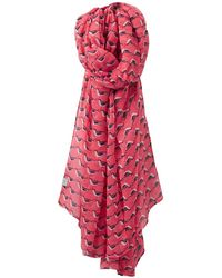 Joules - Wensley Oyster Catcher Print Scarf - Lyst