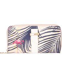 Nica - Chloe Palm Print Large Zip Around Purse - Lyst