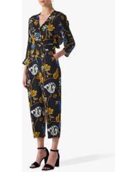 74b86fc2f1af Whistles Lienne Gobi Print Jumpsuit in Black - Lyst