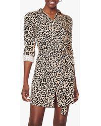 Oasis - Petunia Animal Print Shirt Dress - Lyst