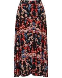 Somerset by Alice Temperley - Peony Print Midi Skirt - Lyst