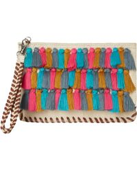 White Stuff - Laurie Tassel Jute Clutch Bag - Lyst