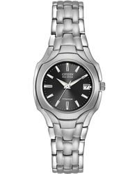 Citizen - Ew1400-53h Women's Titanium Date Bracelet Strap Watch - Lyst