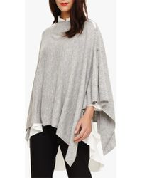 Phase Eight - Grey Noa Cashmere Poncho - Lyst