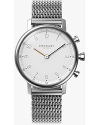 Kronaby - Connected A1000-0793 Unisex Nord Mesh Bracelet Strap Smartwatch - Lyst