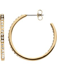 Dyrberg/Kern - Crystal Hoop Earrings - Lyst