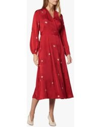 L.K.Bennett - Elspeth Red Dress - Lyst