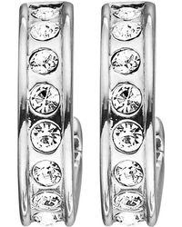 Dyrberg/Kern | Dyrberg/kern Desolo Crystal Hoop Earrings | Lyst