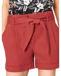 Oasis - Suit Tie Waist Shorts - Lyst