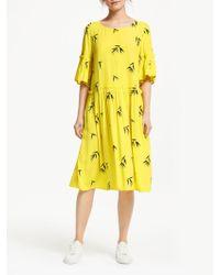 Numph - Jemsa Ruffle Midi Dress - Lyst