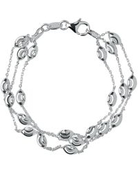 Links of London - Essentials Sterling Silver Beaded Chain 3 Row Bracelet - Lyst