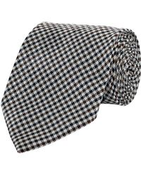 Aquascutum - Micro Club Check Silk Tie - Lyst