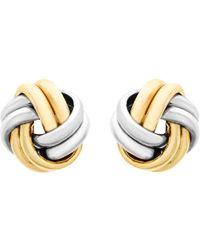 Ib&b | 9ct Gold Small Knot Stud Earrings | Lyst