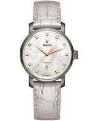 Rado - R32118102 Unisex Diamaster Diamond Date Automatic Leather Strap Watch - Lyst