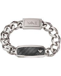 Emporio Armani - Men's Stainless Steel Chunky Chain Bracelet - Lyst