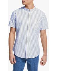 John Lewis - Grandad Button Through Striped Shirt - Lyst