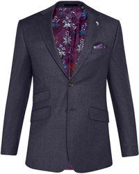 Ted Baker - Caspiaj Sterling Wool Flannel Tailored Suit Jacket - Lyst