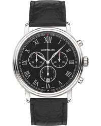Montblanc - 117047 Men's Tradition Chronograph Alligator Leather Strap Watch - Lyst