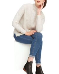 Joules - Funnel Neck Cable Knit Jumper - Lyst