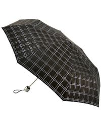Fulton - Minilite Sparkle Check Umbrella - Lyst