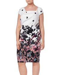 Adrianna Papell - Plus Size Floral Bliss Dress - Lyst