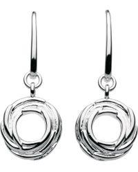 Kit Heath - Sterling Silver Nest Drop Earrings - Lyst